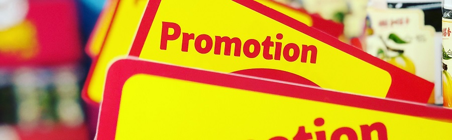 Promotional branded POS merchandise and signage
